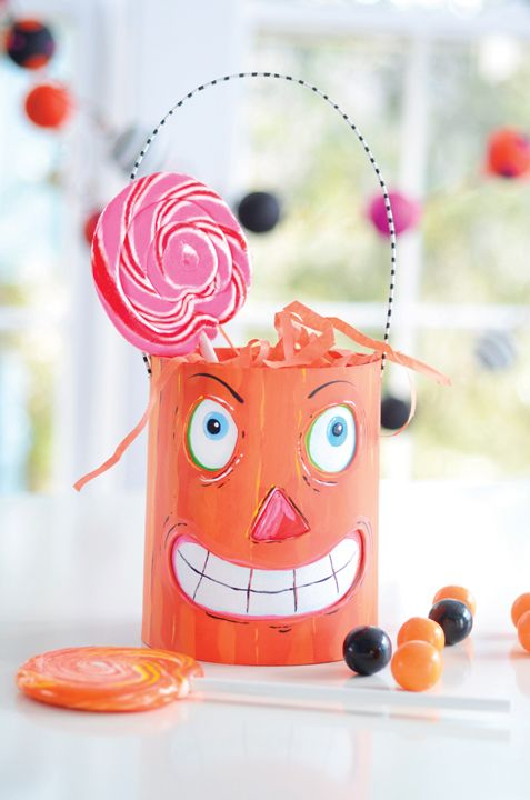 Buckets of Fun. Project from Glitterville's Handmade Halloween.