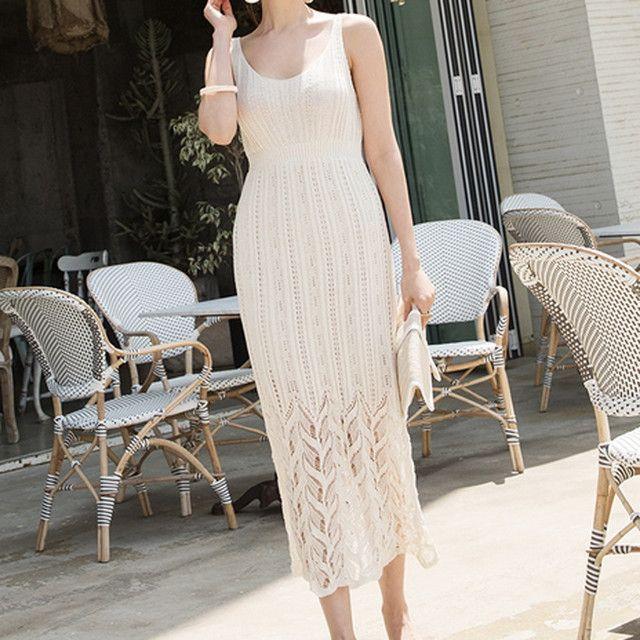 2020年 新作 ロングワンピース ドレス 袖なし vネック お洒落 エレガント ホワイト グリーン フリー 3 304 ワンピース ドレス ロングワンピース ワンピース