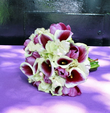 Purple And White Calla Lily Wedding Bouquet By Signature Bloom San Jose CA
