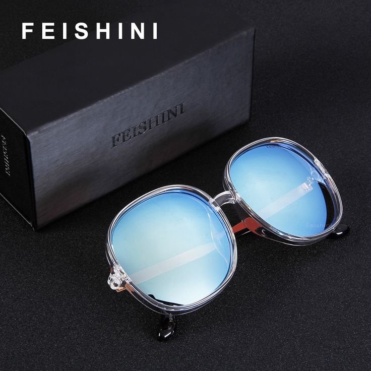 FEISHINI Gradient Oversized Womens Sunglasses Big Frame Plastic Transparent White Fashion Colored Unisex Men Sun Glasses Clear. Yesterday's price: US $17.90 (14.77 EUR). Today's price: US $5.91 (4.86 EUR). Discount: 67%.