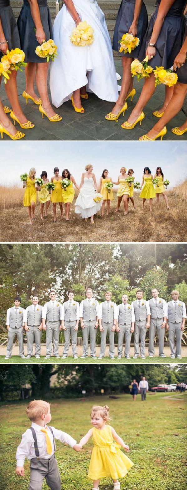 Para lograr un concepto de boda armónica imprime el color de la boda en el look de las damas, pajes y padrinos http://elblogdemariajose.com/aplicar-los-colores-de-la-boda/ #bodas #elblogdemariajose #colorboda