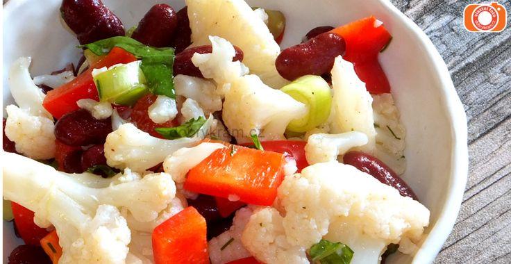 Květákový salát s řepkovým olejem nemá chybu!