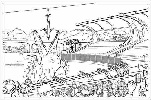 ausmalbilder jurassic world 2 zum ausdrucken  dinosaur
