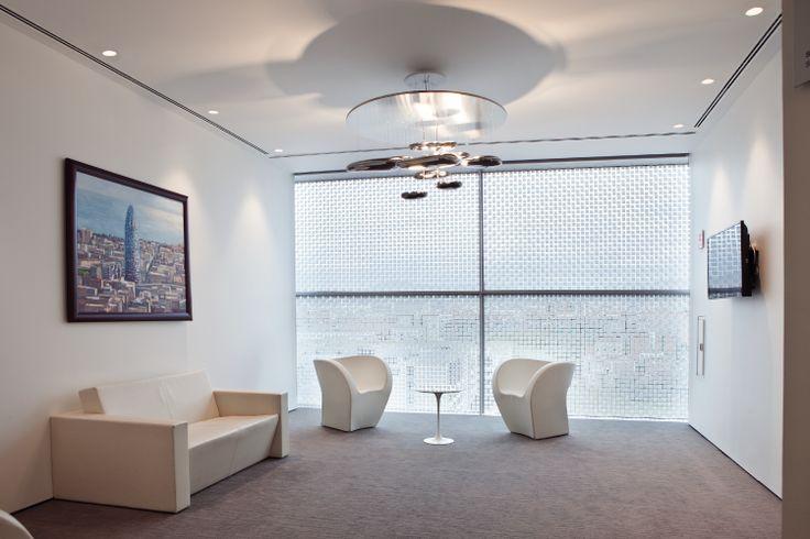 Waiting room with our #Mercury suspension ► http://bit.ly/_Mercury #design Ross Lovegrove  La città de l'acqua, Barcelona ~ Spain | Architect UNEN | © Manu Da Costa