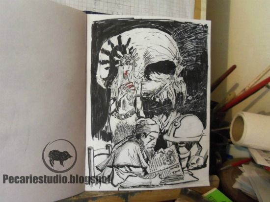 #Arte #Ilustración #BlancoyNegro #Dibujo #AyNeBlood #CarlosBenitez #España #Argentina #Video #Youtube #Pecariestudio #Vampiros #Drawing #Horror #Terror