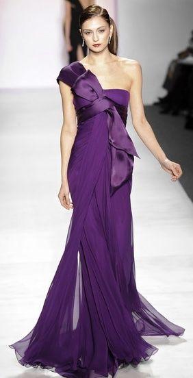 lilac chiffon gown