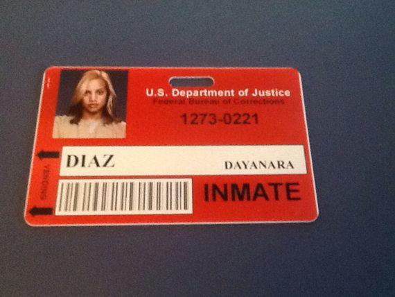 """Dayanara """"Daya"""" Diaz - Inmate PVC ID Badge"""