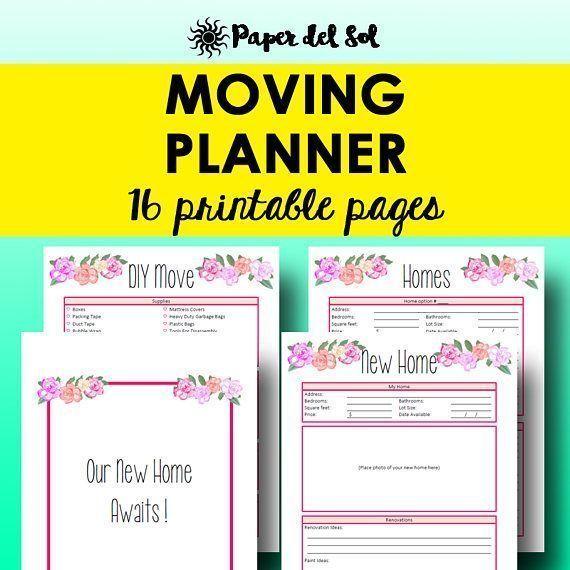Moving Planner Printables, Moving Checklist Packing Inventory Move Printable Planners Move Checklist Printables Letter Size Instant Download https://www.etsy.com/listing/538120153
