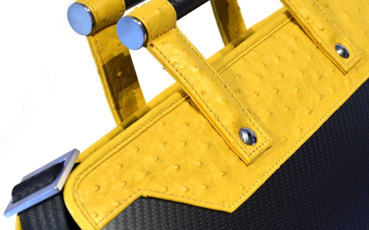 #Aznom Carbon #Business Collection / Carbon Business 24h #SpecialEdition #Ostrich Leather / Carbon Fiber #24h Bag #luxury #bags #carbonfiber #LuxuryLeather