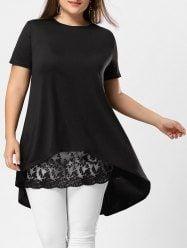 Lace Extender Sheer Plus Size Mini Skirt
