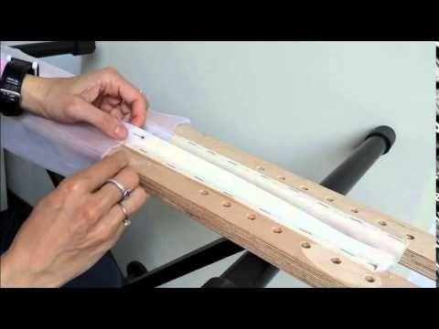 borduren luneville naald deel 4 van 5 borduurraam opspannen myrville.nl broderie d'art - YouTube