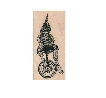 rubber stamps  frog on wheels  unicycle  Steampunk Rubber Stamp wood mounted designed by Mary Vogel Lozinak no 19217 by pinkflamingo61 on Etsy