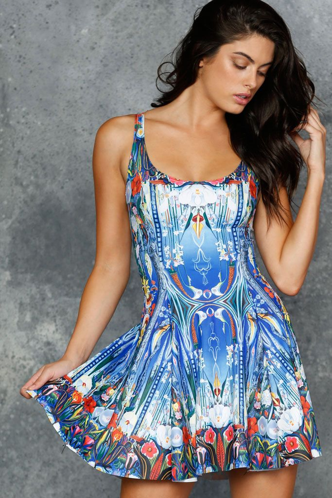 Stella's Flowers Evil Skater Dress - 48HR (AU $85AUD) by BlackMilk Clothing