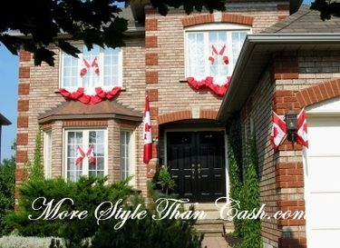 How to Sew Bunting for Canada Day Decorations - More Style Than Cash