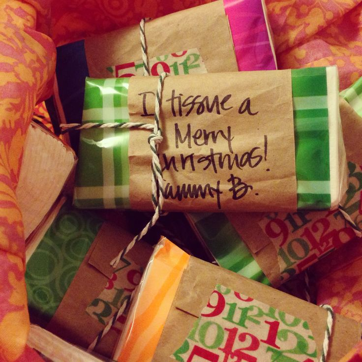 'i tissue a merry christmas' - silly little gifts for my co-workers