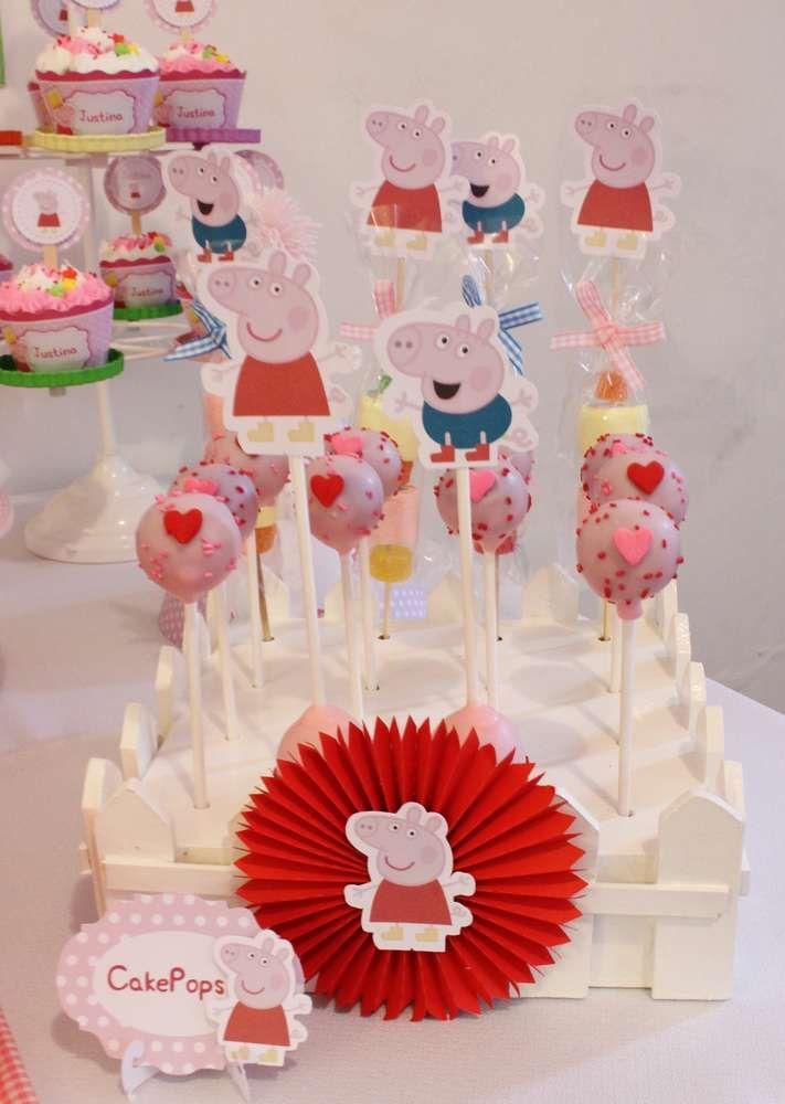 cake pops de Peppa