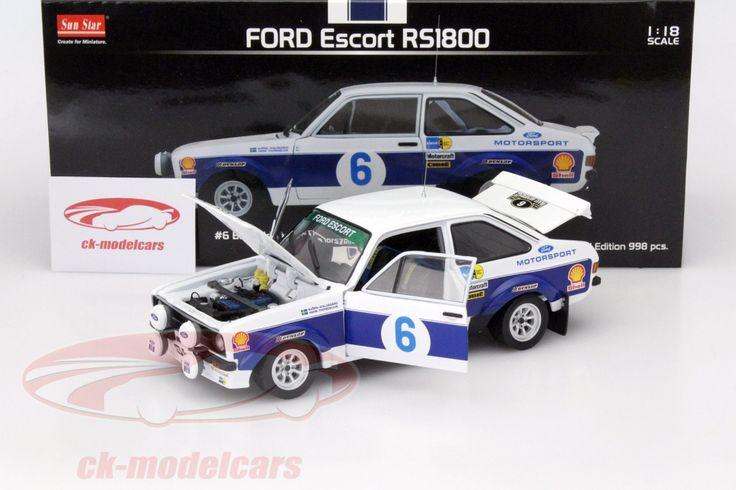 Ford Escort RS1800, Winner Rally Acropolis 1977, No.6, B.Waldegard / H.Thorszelius. Sun Star Models, 1/18, Limited Edition 998 pcs. Price (2016): 65 EUR.