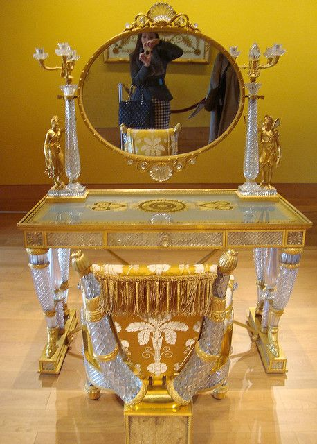 Duchess de Berry's crystal dressing table - now housed in the Louvre
