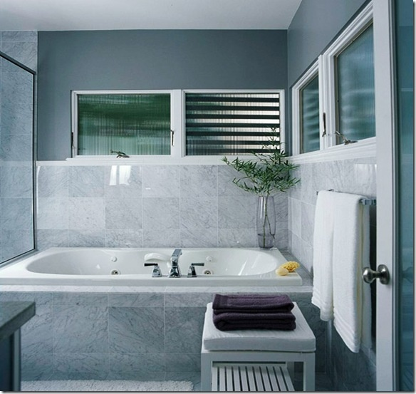 17 best images about home decor bathrooms on pinterest - Grey white and purple bathroom ...