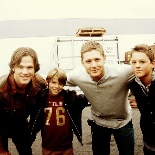 Big Sam and Dean with little Sam and Dean. I just love little Sam. He looks exactly like he ought to.