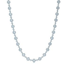 Round brilliant diamond necklace in platinum and it's only a quarter of a million dollars!