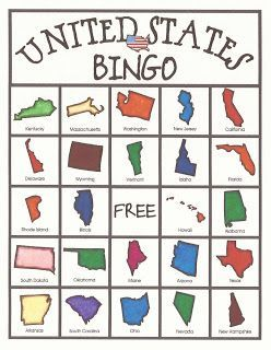 Free United States Bingo Game Printables