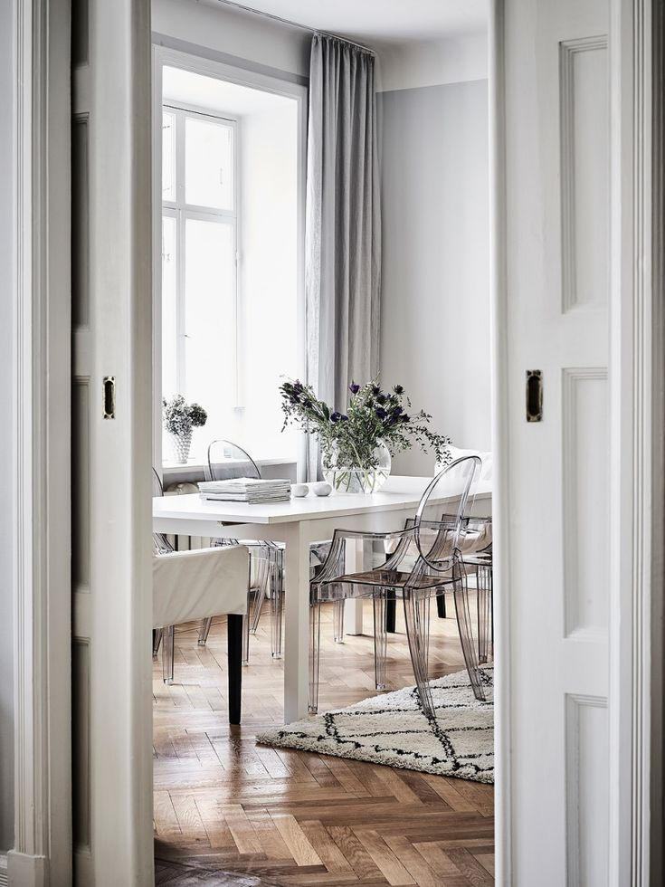 Lucite And Moroccan Elegant Scandinavian Apartment With