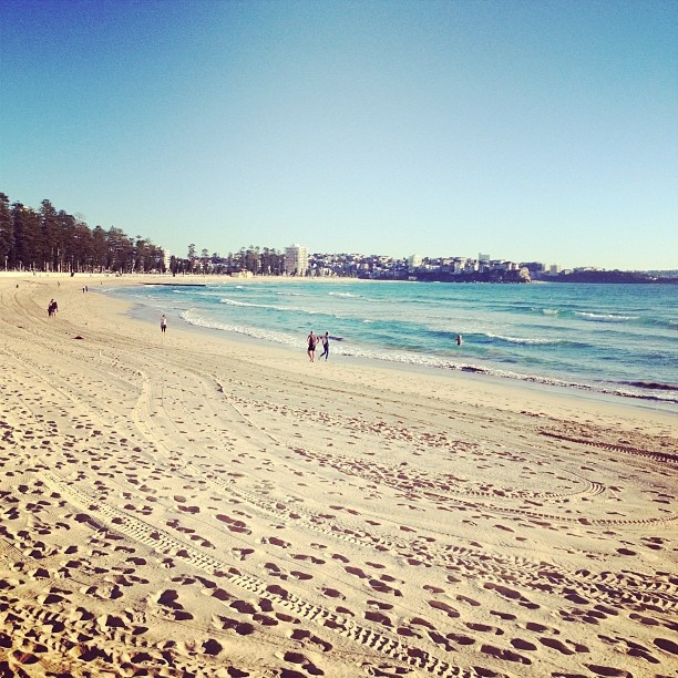 Morning for a spring swim in the ocean # Manly