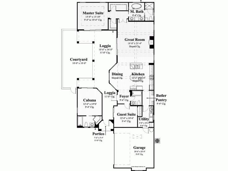 Small home with courtyard home ideas pinterest house for Small courtyard home plans