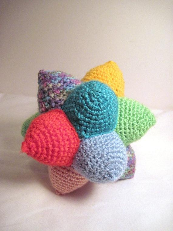 12 Point Star Ball Amugurumi Crochet Toy #dtea