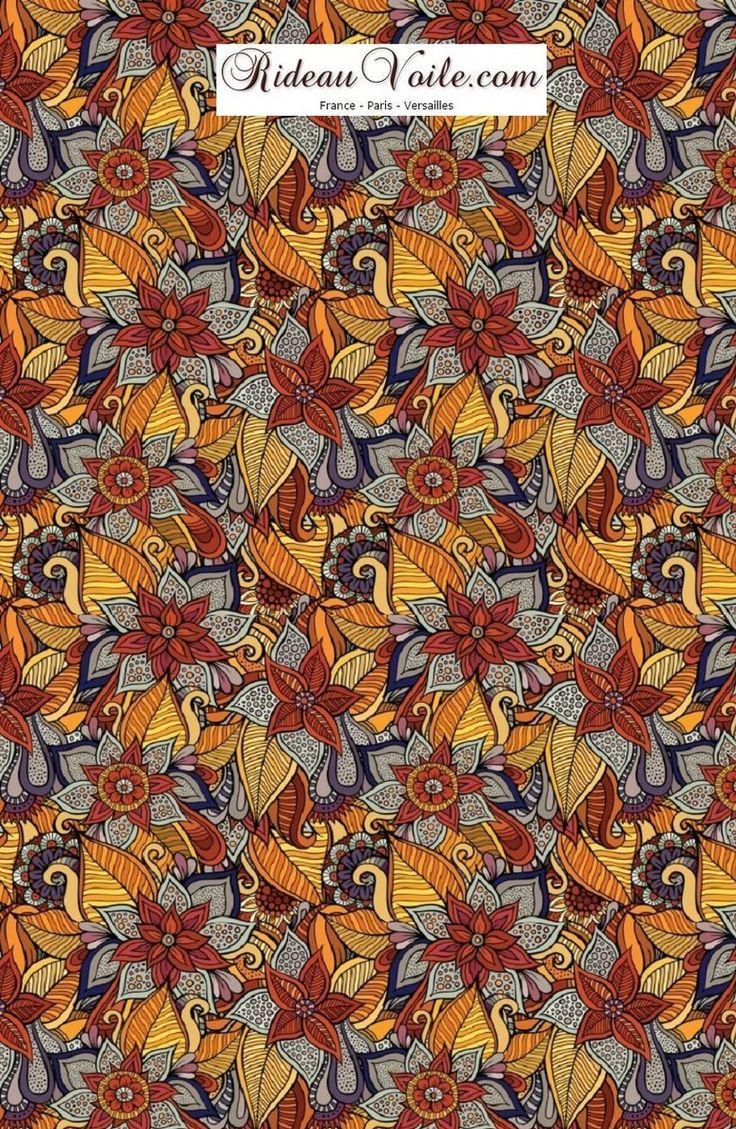 D coration d 39 int rieure ext rieure motif pagne africain wax ethnique baltik sur voilage - Canape style africain ...