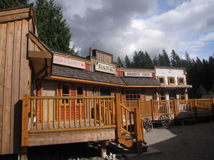 Western Town including Hotel, Bank, Barber Shop, Post Office and Jail #outdoorplay #summercamp #outdoorwedding #greatoutdoors #wildwildwest
