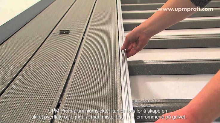 Installeringsinstruksjonene: Hvordan du installerer UPM ProFi Deck komposittplanker. Se videoen eller les mer om installasjon på www.upmprofi.no/installasjon/