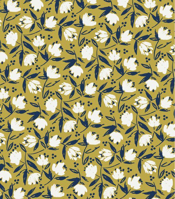 Petit Flower Seedling print. Vintage style floral pattern from Seasalt Cornwall.