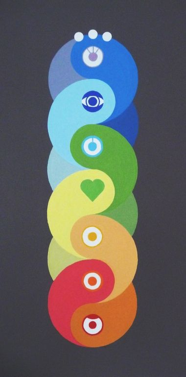 "Saatchi Art Artist: Waldemar Borowski; Acrylic Painting ""Tree of Life"" / Sacred Geometry <3"