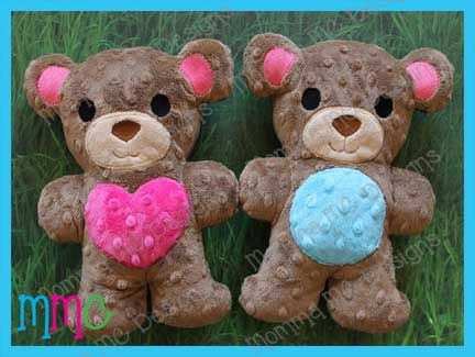 Teddy Bear Softie, 2 cute. This would make a nice baby gift.