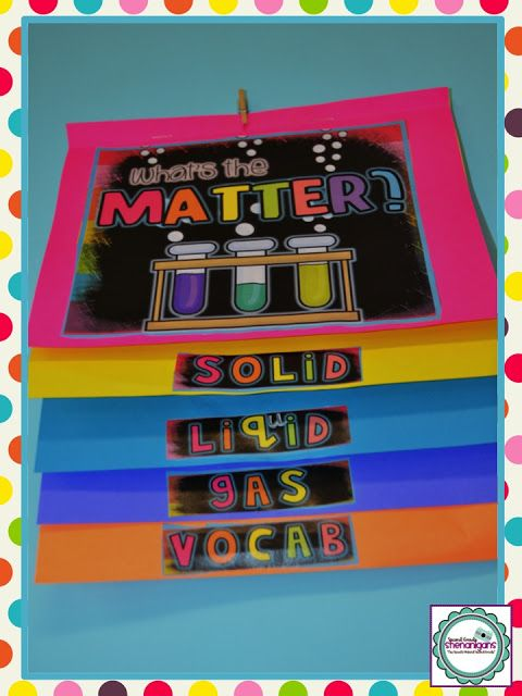 What's the Matter? Science foldable flipbook for the 3 states of matter