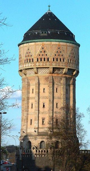 Metz - Château d'eau de la gare de Metz, Lorraine