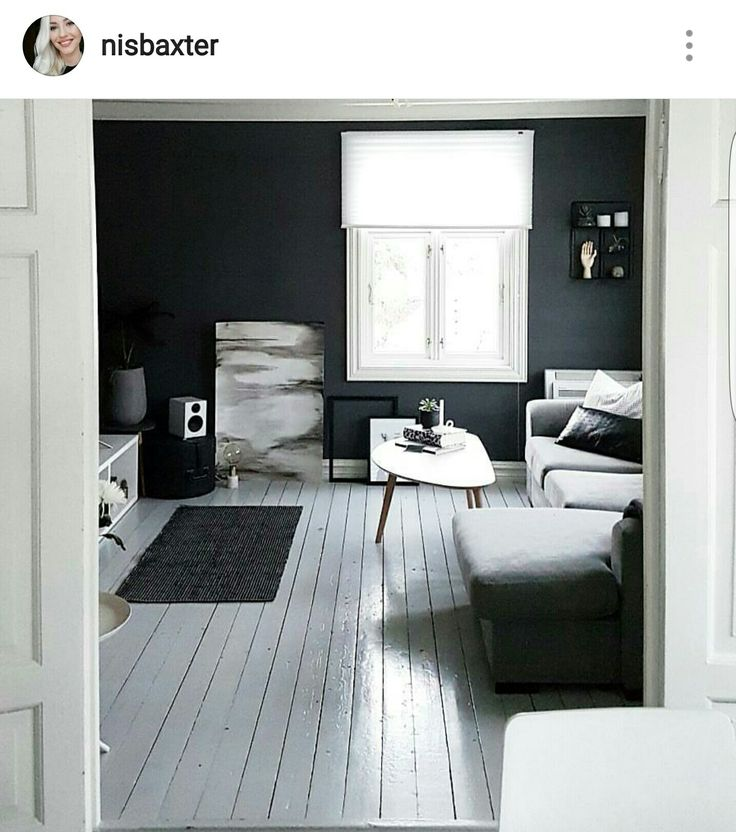 My lovely gray wall, made a matching black and white watercolor painting for my monocrome scandinavian home Wall color is Jotunlady Bergknatt. Instagram: nisbaxter