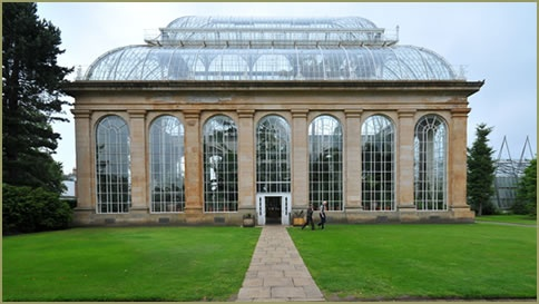 The Royal Botanic Garden Palm House in Edinburgh, Scotland