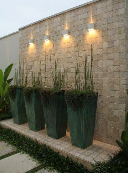 vasos no projeto paisagístico