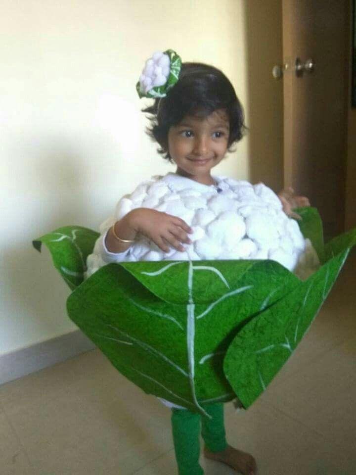 2019 Halloween Costume Fancy Ideas For Little Boys Cauliflower vegetable fancy dress | Fancy dress ideas in 2019