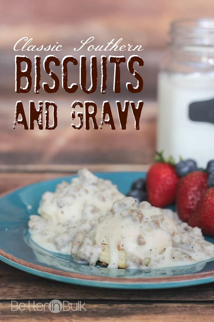 When I asked my husband what Southern recipe he wanted me to make, he didn't hesitate to ask for some good-home classic Southern biscuits and gravy.