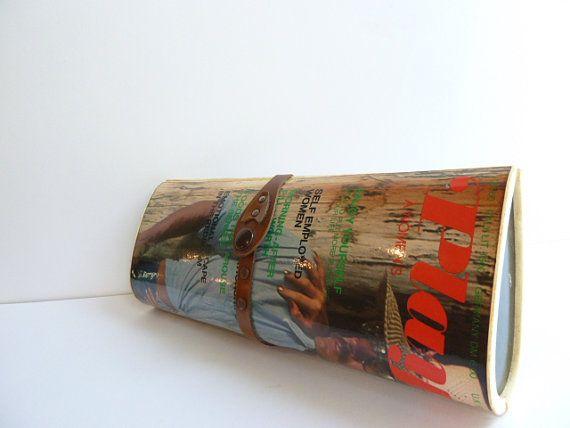 Vintage Magazine Clutch Magazine Purse Magazine by NyeVintage