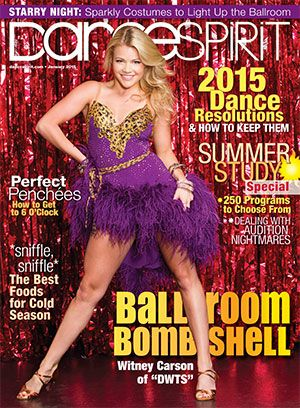 """Witney Carson, of """"Dancing with the Stars"""" and """"So You Think You Can Dance,"""" on our January 2015 cover! (Photo by Joe Toreno)"""