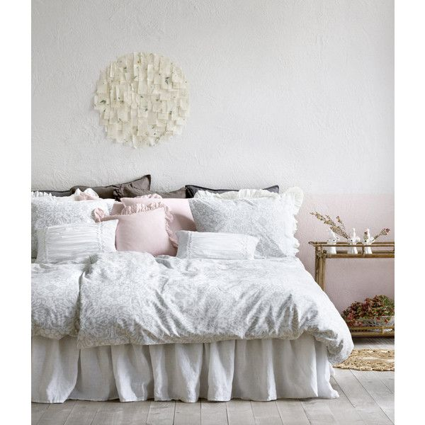 King/Queen Linen Bedskirt $69.99 ($70) ❤ liked on Polyvore featuring home, bed & bath, bedding, bed accessories, king size dust ruffle, queen bedskirt, king bedskirt, queen dust ruffle and linen bed skirt