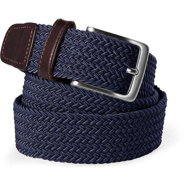 Lands' End Men's Elastic Braid Belt ($40) ❤ liked on Polyvore featuring men's fashion, men's accessories, men's belts, blue, mens elastic belt, mens belts, mens blue belt and mens stretch belts