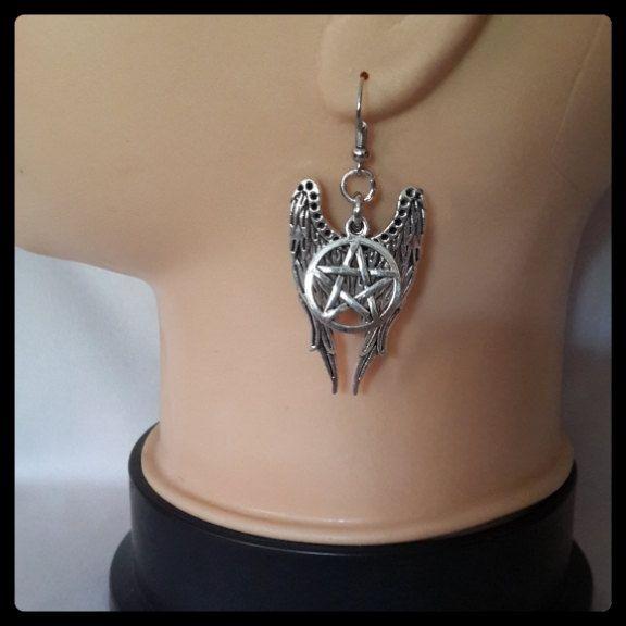 Supernatural Angel Winged Earrings, Castiel Inspirsed by MissMoan on Etsy