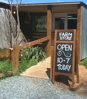 Mountain Valley Farm Ellijay GA.  Pick up at farm store.  Beef, pork.