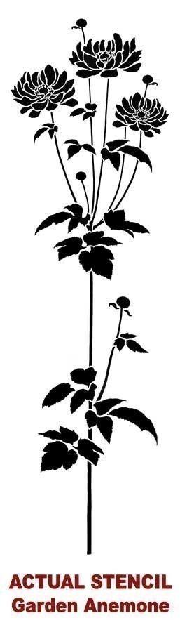 Pochoir fleuri anémone pochoirs par CuttingEdgeStencils sur Etsy